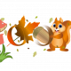 Illustration web doodle Google « Automne »